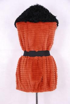 Шуба из вязанного меха «Екатерина 238»